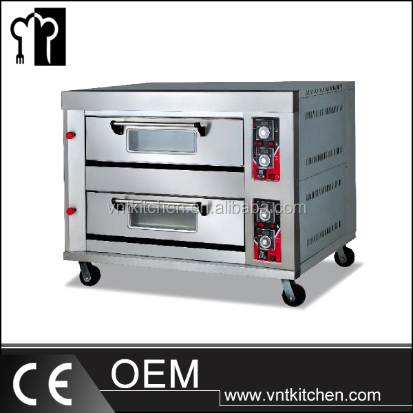 Commercial Gas Pizza oven bread making machine baking equipment gas 2 deck oven for bakery baking oven