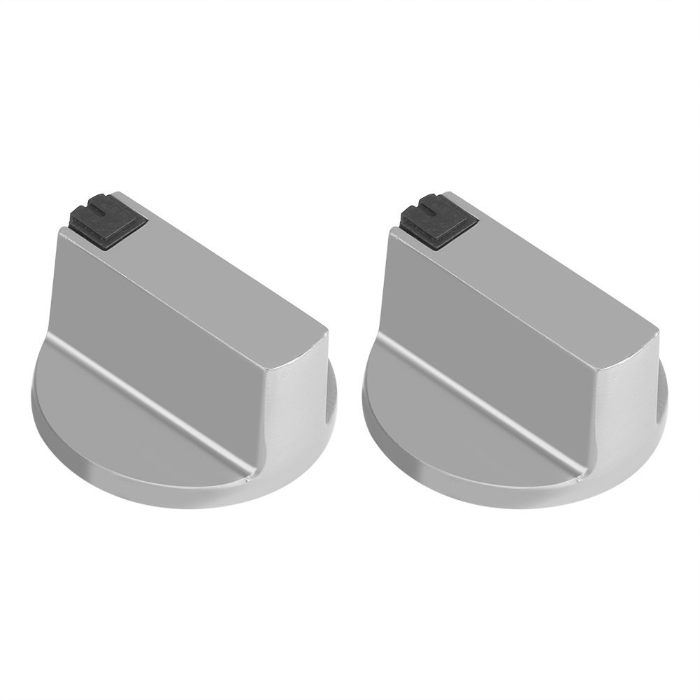 2Pcs 6mm Gas Stove Knobs Universal Zinc Alloy Kitchen Stove Knob Locks Oven Cooktop Switch Control