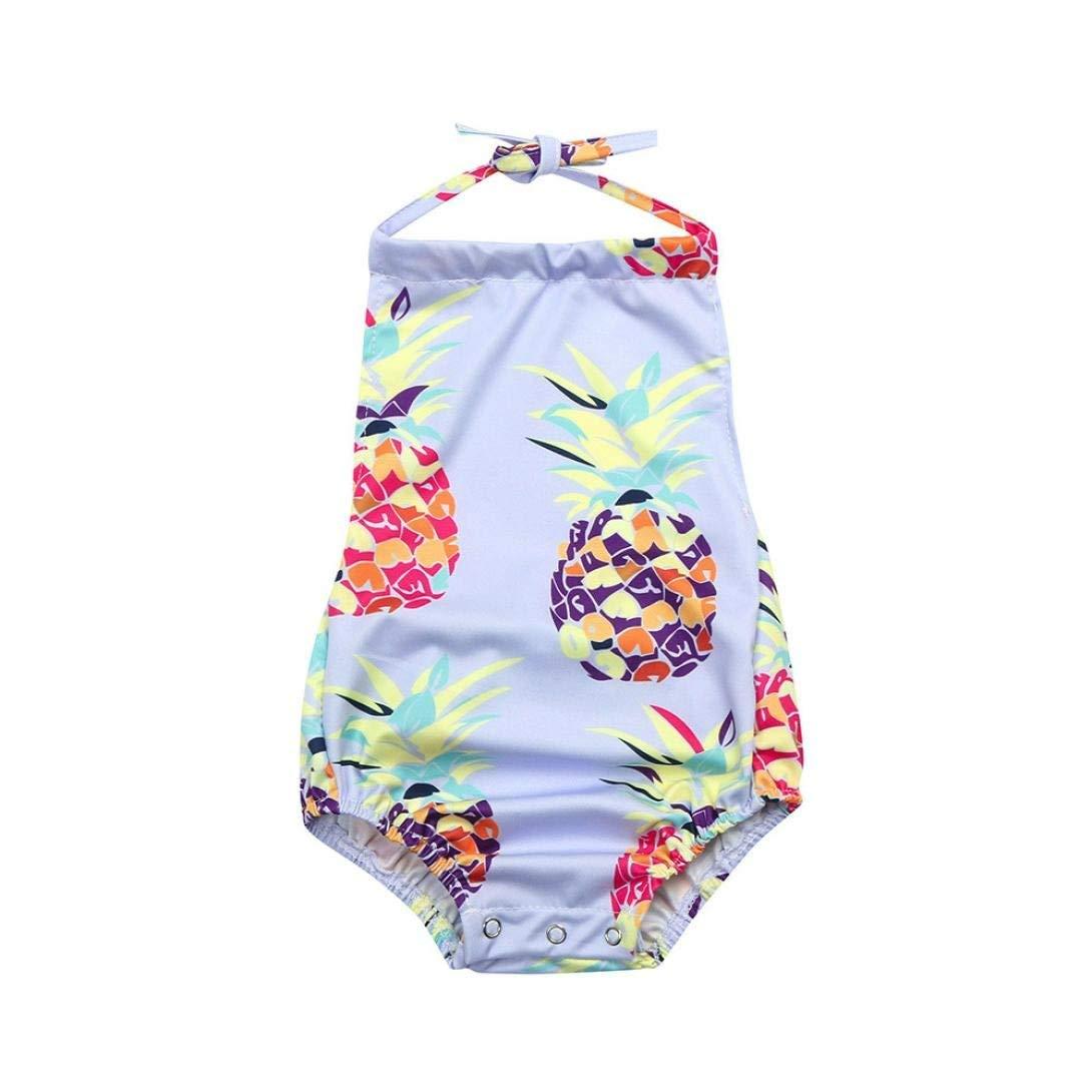 59ebfa81c0cee Get Quotations · Ourhomer Toddler Infant Baby Girls Floral Swimwear Straps  Bikini Pineapple Swimwear Strap One Piece Bathing Suit