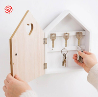 Wall Hang Storage Wooden Key Box Organizer Household Craft Home Gift Decoration