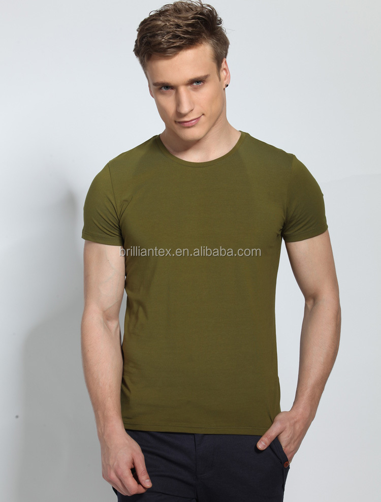 Alibaba China Supplier Cotton Spandex Blended O Neck T Shirt Cheap ...