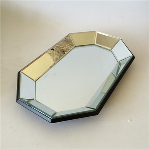glass and irregular pot with mirror