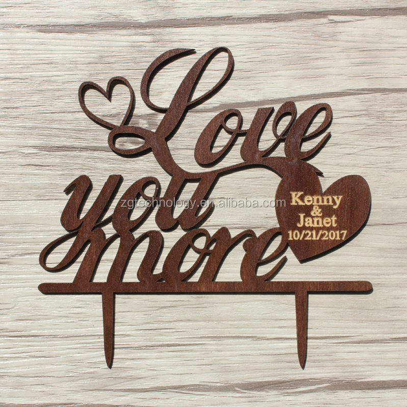 Rustic Wood Cake Topper Customized Wooden Wedding Cake Topper Mr&Mrs Last Name and Heart Pattern Wood Cake Stand