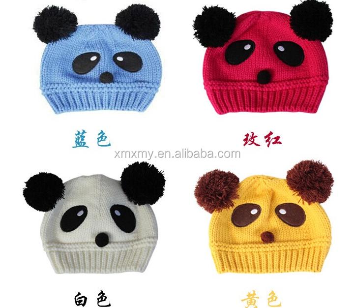 Nueva Venta Caliente Encantadora Panda Invierno Lana Sombrero Para ...