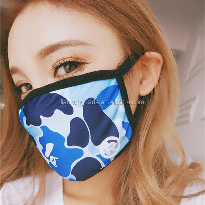 2017 Hot Selling fashion cartoon black mouth mask
