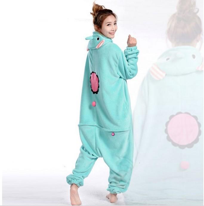 Get Quotations · Free Shipping Mint Pokemon Elephant Cartoon Adult Kigurumi  Animal Cosplay Costume Pajamas Sleepsuit Couplies Onesie Nightwear b8c32347d
