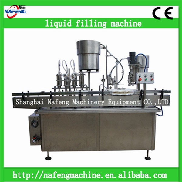 Electronic drive type automatic 100ml glass bottle liquor filling machine