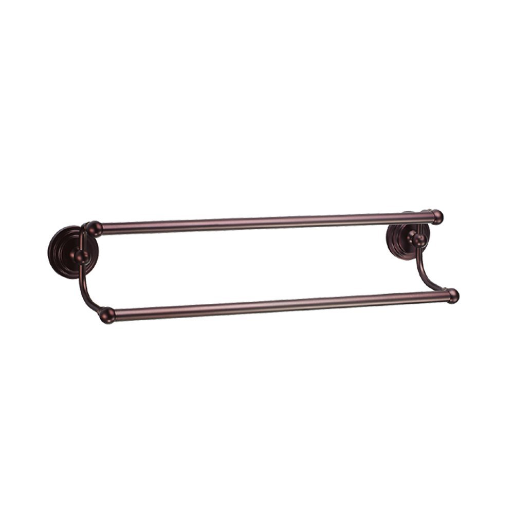 Gatco 5833 Marina 5/8-Inch Diameter Double Towel Bar, 24-Inch, Bronze