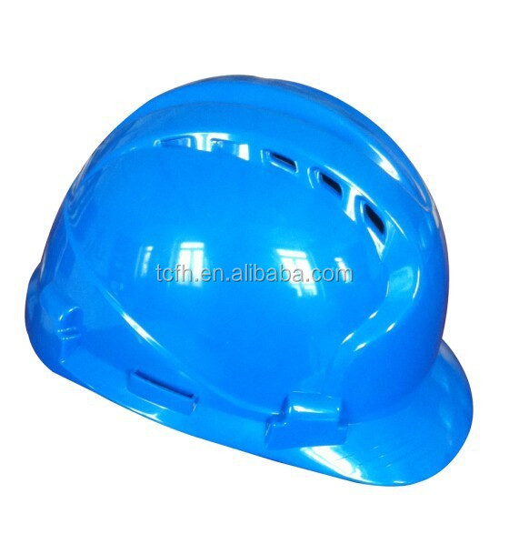 Blue color ABS plastic safety helmet