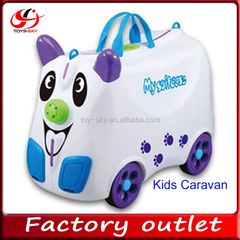China supplier hot new products Kids Caravan traveling case baby cartoon PP suitcase