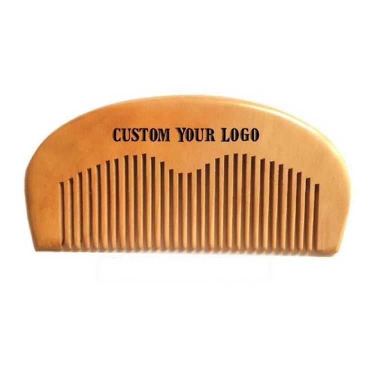 private label beard pocket wooden hair comb