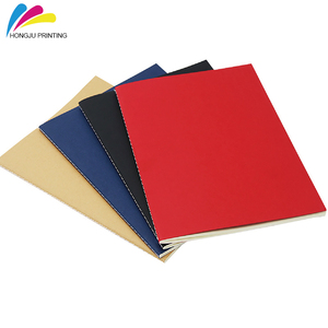 255x185mm recycle brown softcover kraft paper notebook