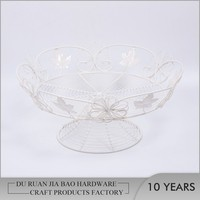 Top quality artistic cheap delicate garden ornaments metal wire storage basket