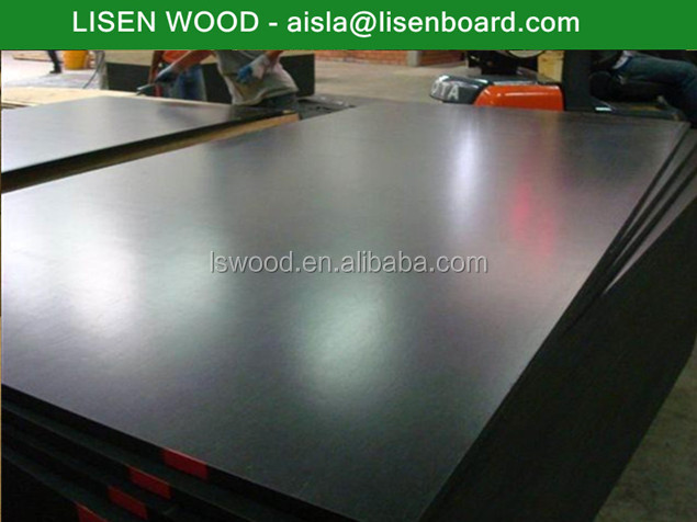 18mm high Black/Brown Film laminated wood construction panel plywood for cement pouring