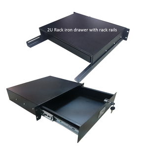 19 Inch rackmount slide 2U drawer for flight case air case road trunk case