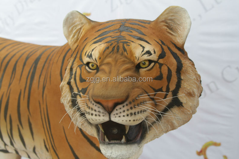 fiberglass tiger for palyground