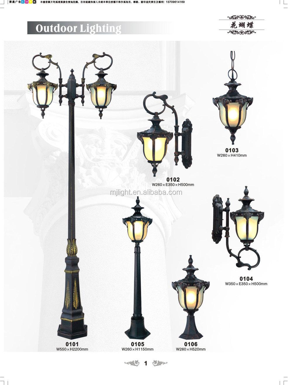 Outdoor Led Cast Iron Decorative Garden Light Pole View Tai Zhan Ming Jing Product Details From Zhongshan Guzhen Taizhan Lighting