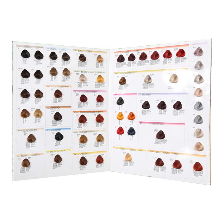 Two Folder Hair Color Swatch Bookcolor Design Hair Color Charthair