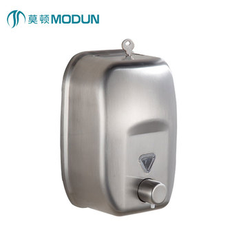 New Design Wall Mount 820ml Stainless Steel Manual Soap Dispenser
