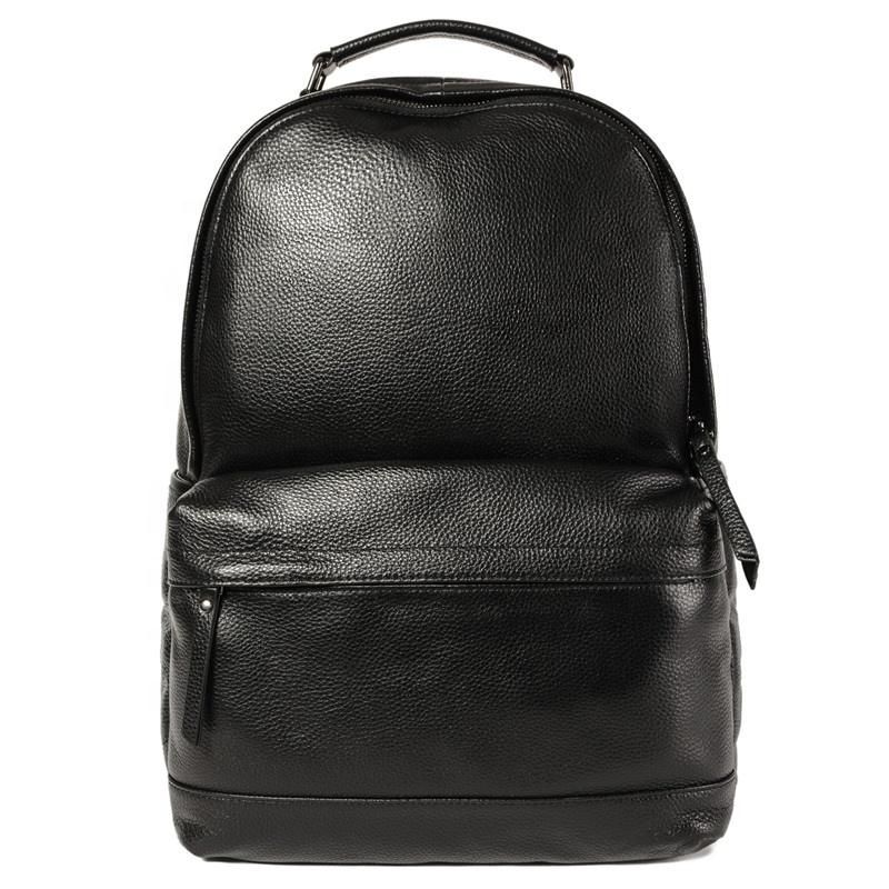 جديد وصول جلد طبيعي أسود الشباب محمول حقيبة ظهر مصنوعة من الجلد عالية الجودة حقيبة المدرسة FSM8