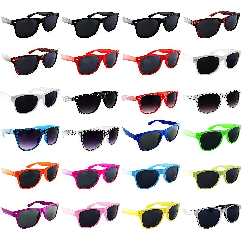 7208965a4c Get Quotations · Lot of 24 Nerd Glasses- Buddy Holly BROWCHO Retro Dark  Lens Sunglasses