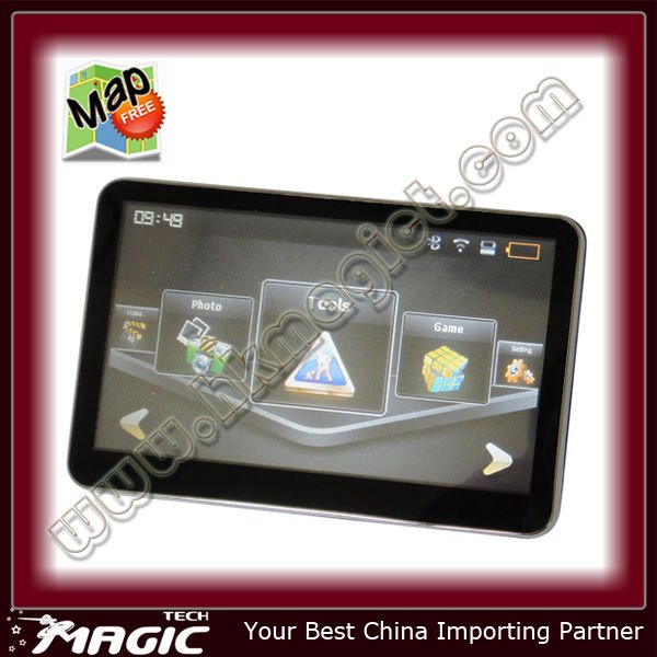 5 inch car gps navigation with Bluetooth and Free map