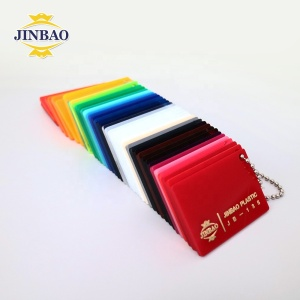 JINBAO logo printing full color UV print 8 x 4 6mm milk white acrylic sheet for advertising