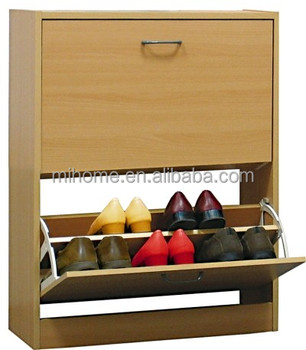 Wooden Shoe Storage Cabinet Box Case 2 Drawer Footwear Stand Rack Unit Cupboard & Wooden Shoe Storage Cabinet Box Case 2 Drawer Footwear Stand Rack ...