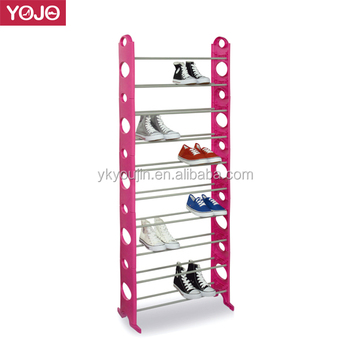 Many Color Shoe Plastic Storage Rack Metal Shoe Stacker