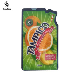 Spout Pouch For Folding Water Bottle Disposable Aluminum Fruit Juice Beverage Packaging Bag