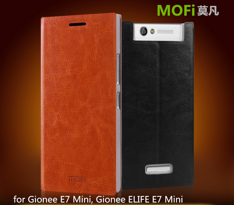 MOFi Case Celular Coque for Gionee ELIFE E7 Mini, Mobile Phone Housing Flip Leather Back Cover for Gionee E7 Mini