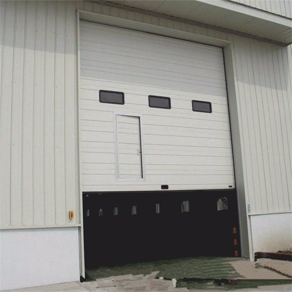 Wide Industrial French Sectional Door With Finger Protection