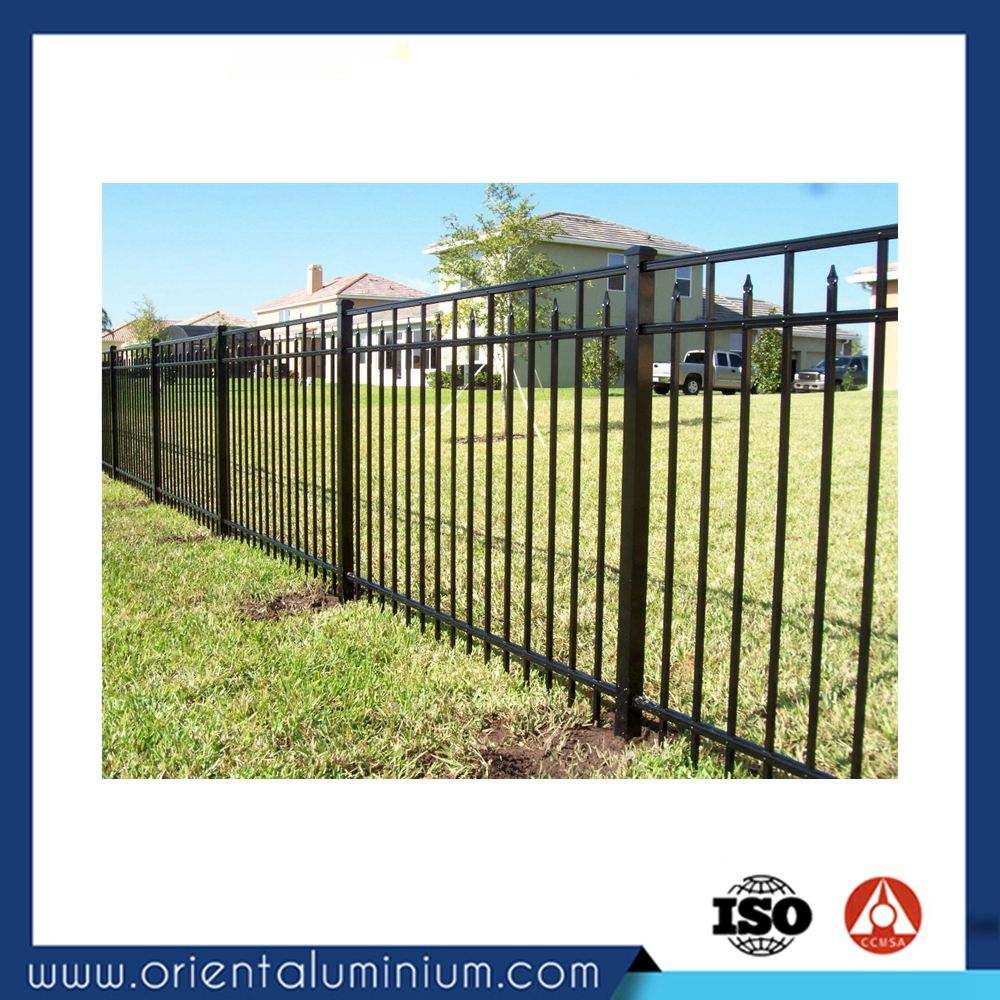 High quality powder coating aluminium fence wooden fence slats