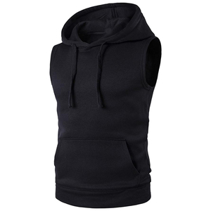 2019 new style men Sleeveless Hip Hop Pullover Hoodies