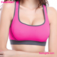 Rose Red High Quality Nylon 2016 Sexy Halter Sports Bra