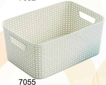 Creative Plastic rattan weaving foldable storage box without lid & Creative Plastic Rattan Weaving Foldable Storage Box Without Lid ...