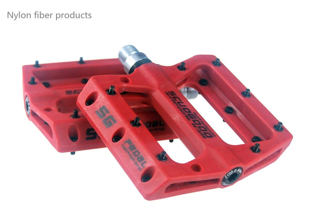 zsling Nylon Composite 9/16 Mountain Bike Pedals High-Strength Non-Slip Bicycle Pedals For Road BMX MTB Bikes 4colors