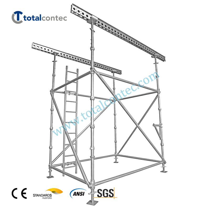 Q235 Steel Galvanized Cuplock Scaffolding  Standard System for Construction