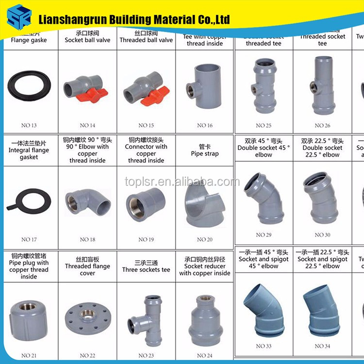 Chinese supplier names of pvc pipe fittings buy