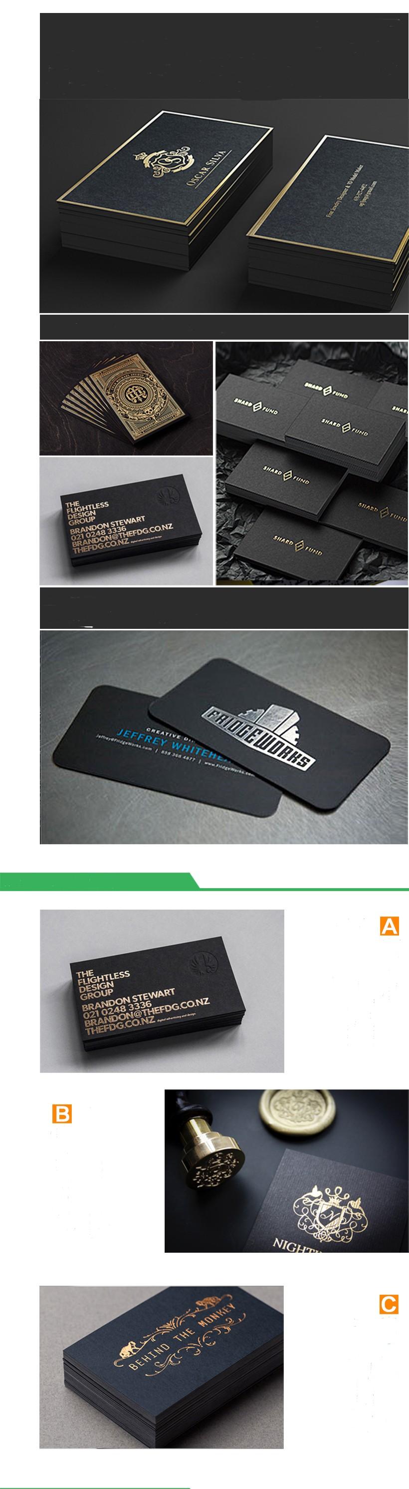 Foiled Embossed Carbon Fiber Business Cards Printing Buy