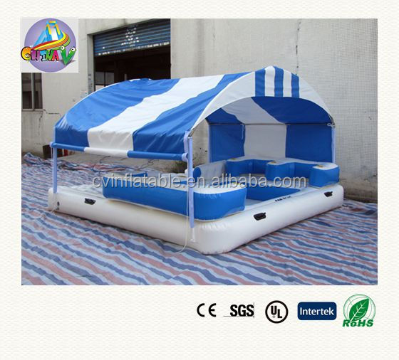 Inflatable Island Floating Lounge With Canopy Inflatable