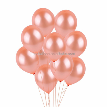 Bridal shower decor metallic rose gold latex balloon for engagement party