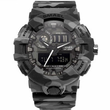 Mode populaire Smael 8001MC Quartz digitale <span class=keywords><strong>Camouflage</strong></span> sport heren <span class=keywords><strong>horloge</strong></span>