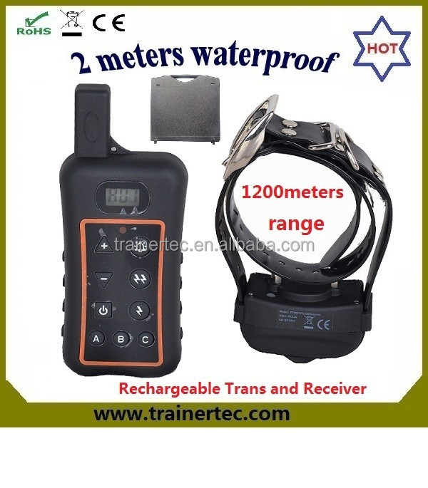 1200Meters rechargeable dog training collar clicker dog training