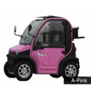 pink electric solar car mini 2 seats electric cars for adult