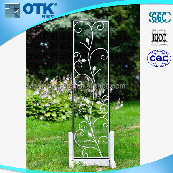 hot selling good quality security wrought iron glass doors