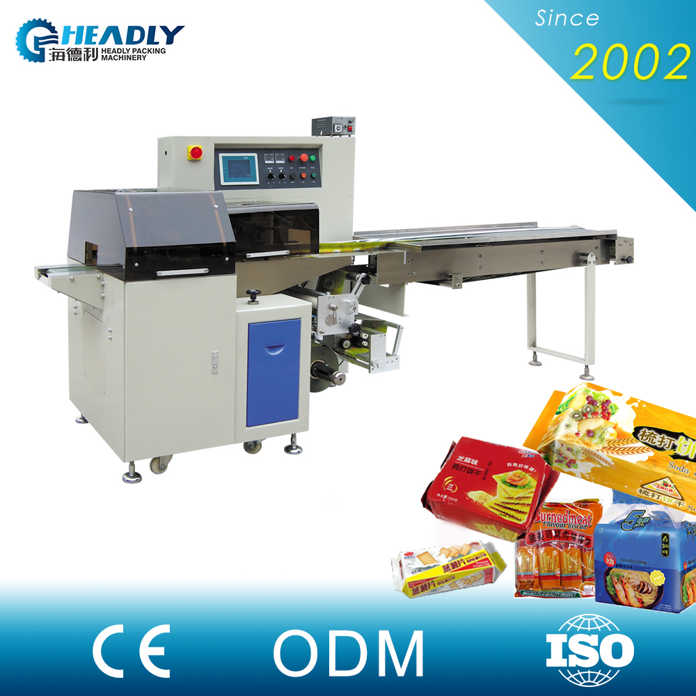 Industrial Part/Bread/Biscuit Automatic Pillow Packing Machinery from China