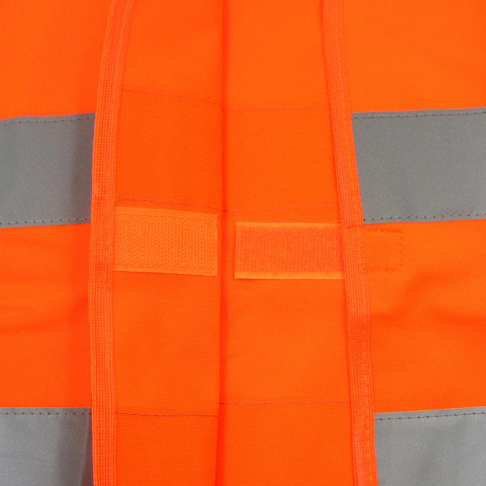 Многофункциональный видимость куртка безопасности светоотражающий жилет предупреждение одежда заметности полиэстер оранжевый chaleco reflectante