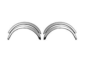 CENTURY 1997-2004 BUICK WC37540 QAA 4 piece set: Wheel Well Fender Trim Molding - Stainless Steel, imported, Clip on or screw in.