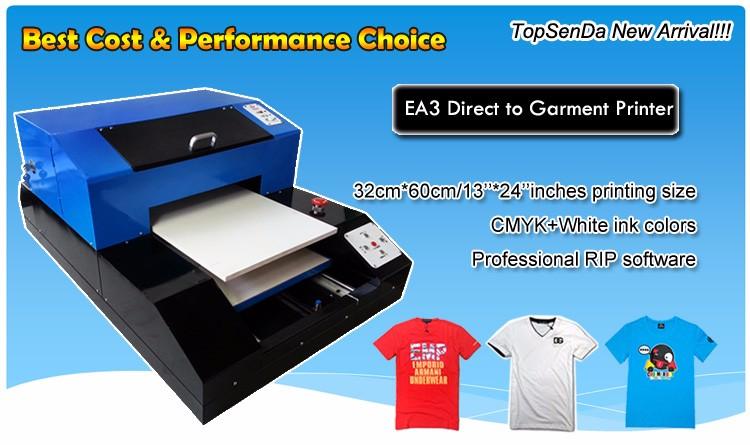 e409884ba A3 size Digital T-shirt printer Direct to garment dtg printers for sale